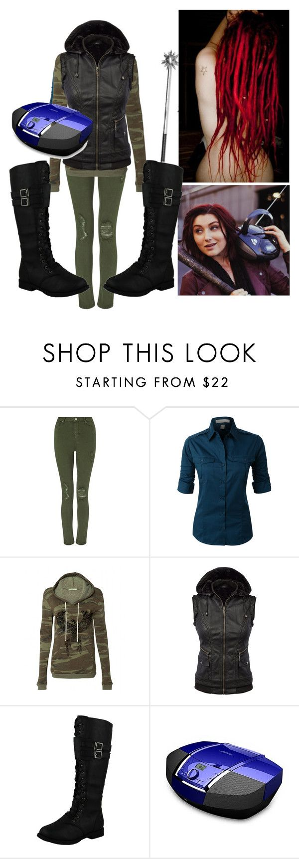 """""""#Znation :  A Boombox & A Mace"""" by brynfoley ❤ liked on Polyvore featuring Episode, Miss Selfridge, LE3NO and West Blvd"""