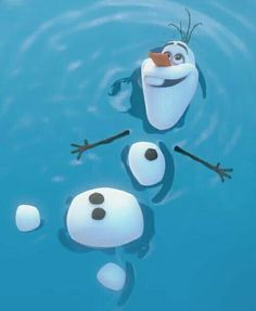 Image result for Olaf in water