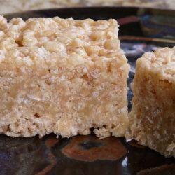 Caramel Rice Krispie Squares - Traditional Rice Krispies Squares made decadent.