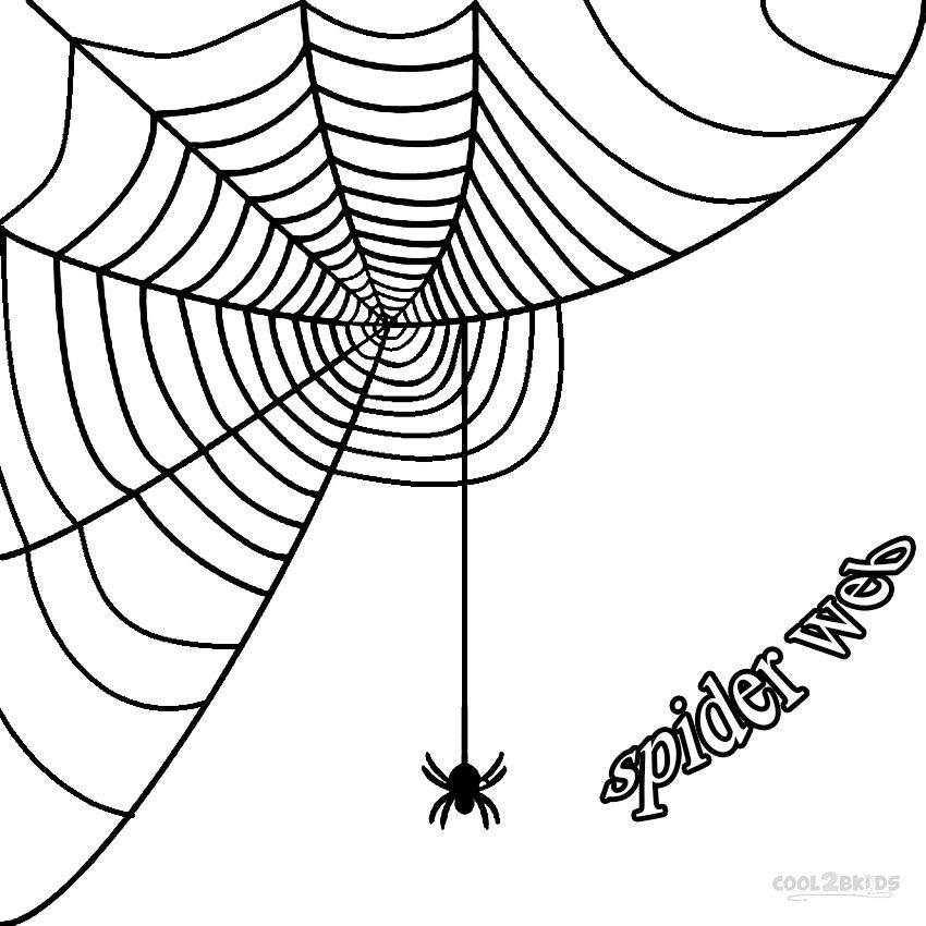 Printable Spider Web Coloring Pages For Kids | Cool2bKids ...