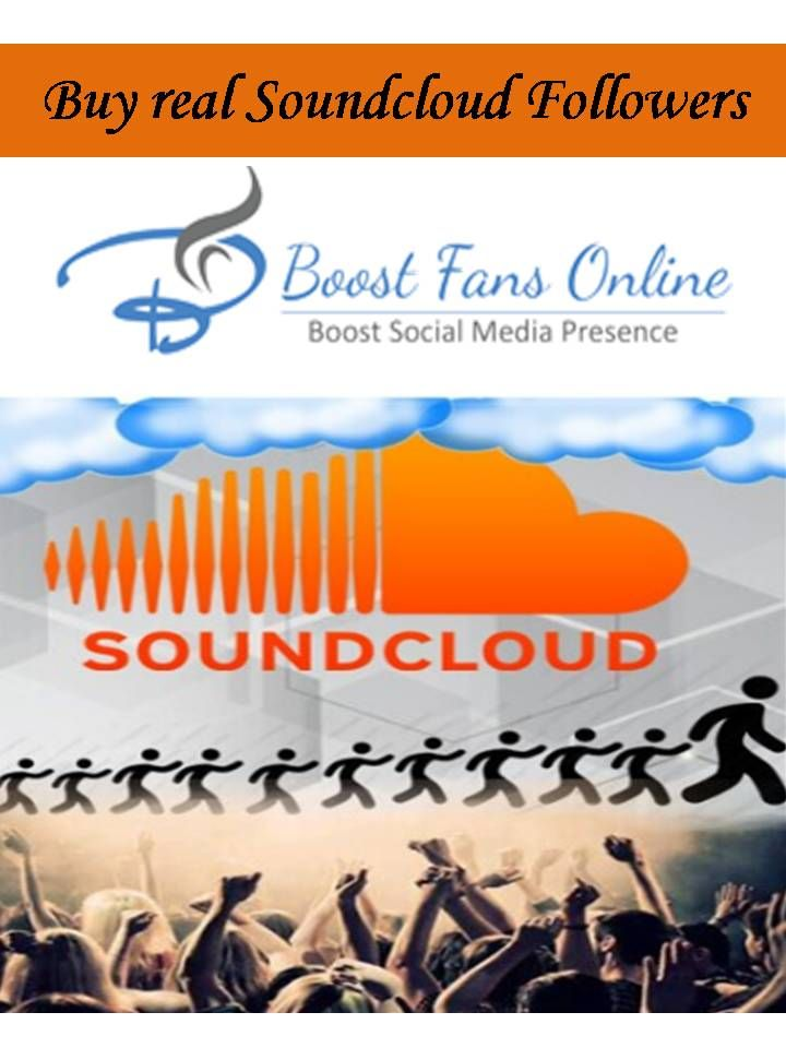 Pin by boostfansonline on Buy real Soundcloud Followers | How to get