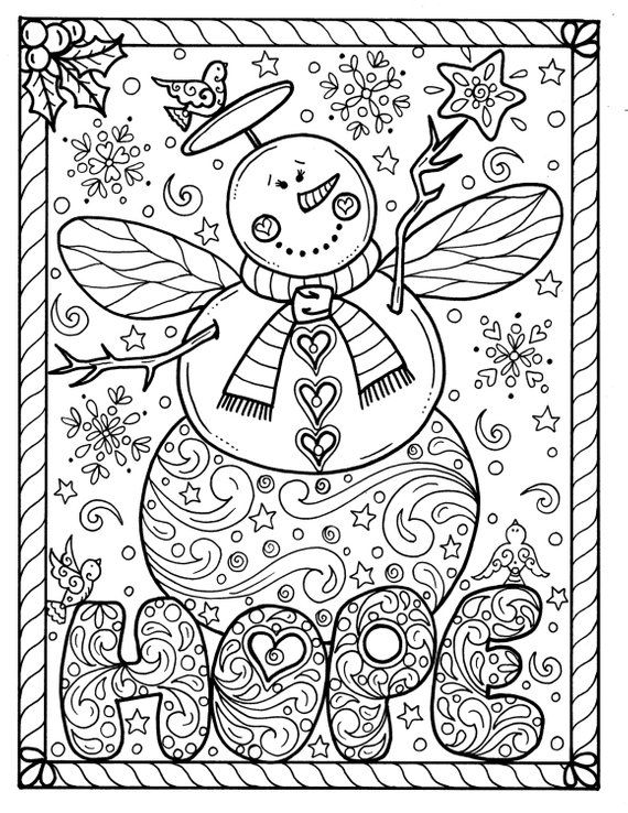 Snow Angel Instant Download Christmas Coloring Page Holidays Etsy Printable Christmas Coloring Pages Christmas Coloring Pages Christmas Coloring Sheets