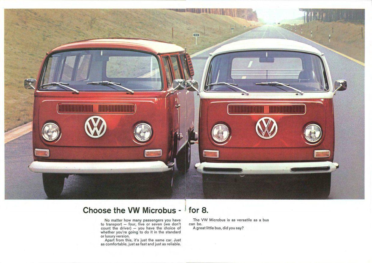 chianti vw bus 1972 | 1972 VW Bus Sales Brochure - The VW Microbus