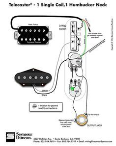 telecaster wiring diagram - humbucker & single coil