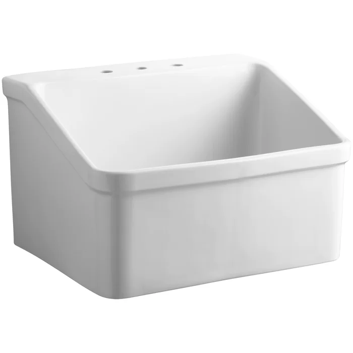 Hollister 28 X 22 Wall Mounted Laundry Sink In 2020 Laundry
