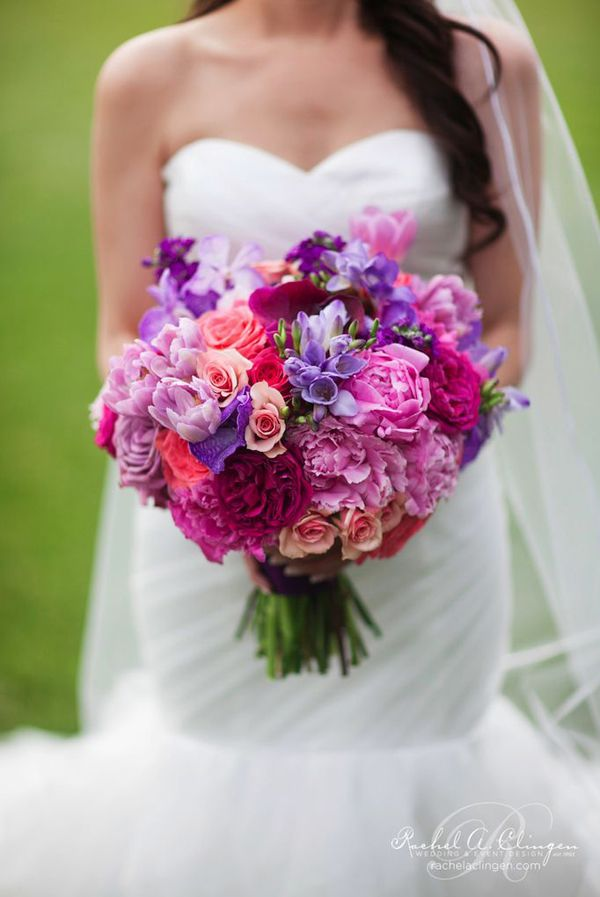 Wedding Bouquet Purple Pink