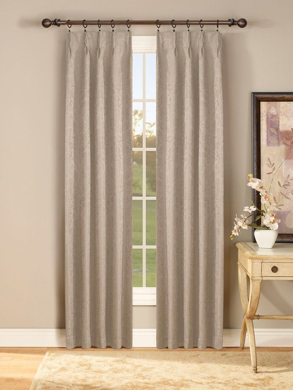 garden faux free on pinch home marquee product curtain shipping curtains pleat silk panel