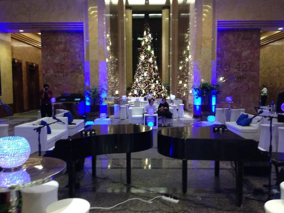Beautiful corporate Christmas party with Dueling Pianos! www.SpankyEntertainment.com