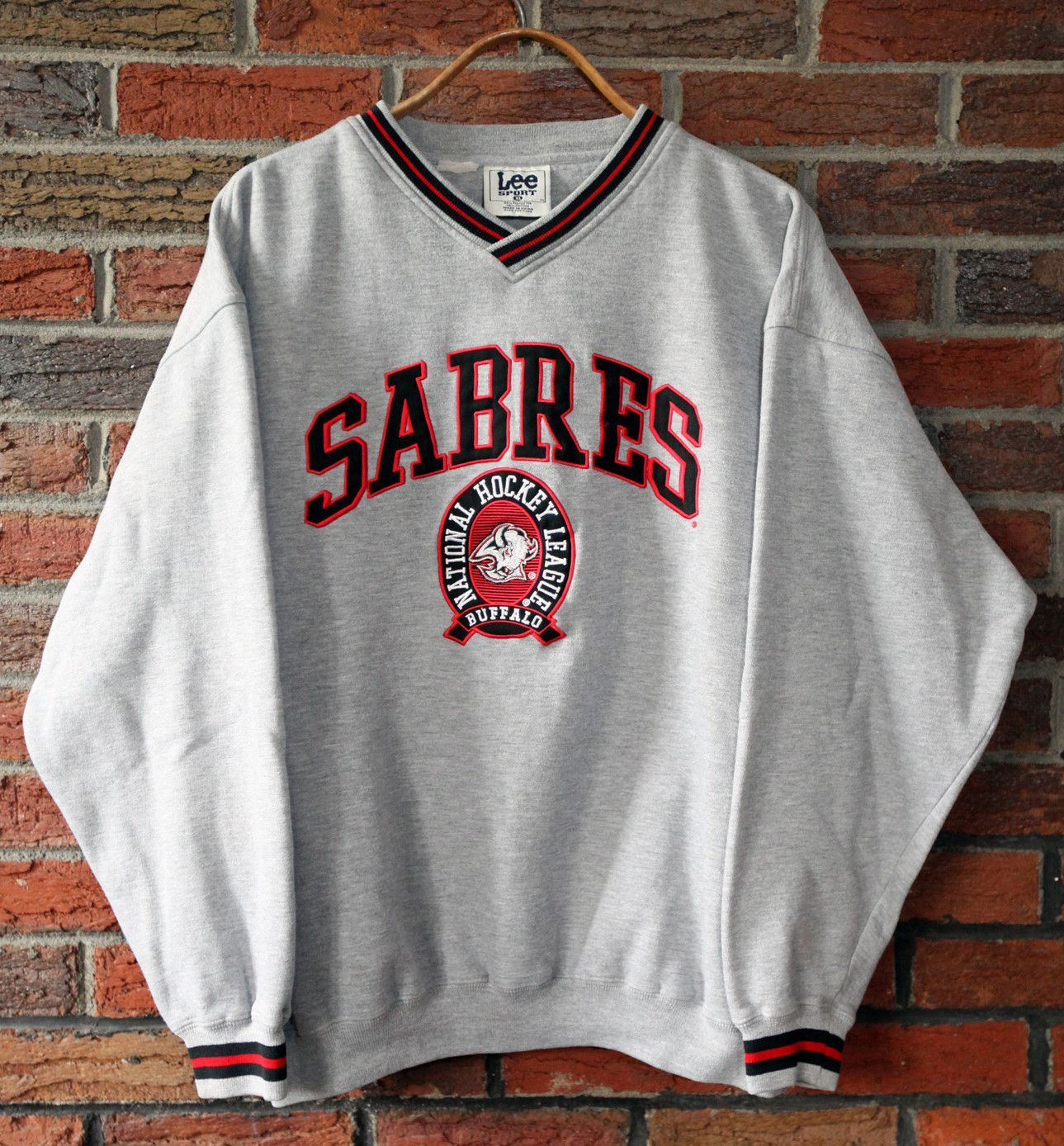Vintage 90 S Buffalo Sabres Lee Sport Crewneck Sweatshirt Sz Xl Vintage Sportswear Sweatshirts Crew Neck Sweatshirt [ 1388 x 1289 Pixel ]