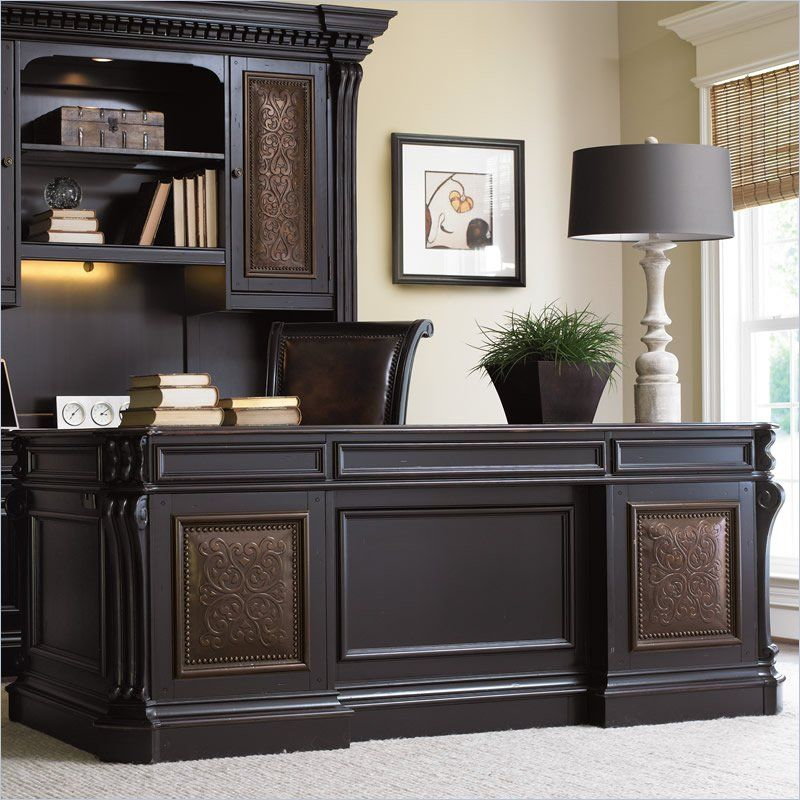 Furniture Telluride 76 Executive Desk With Leather Top