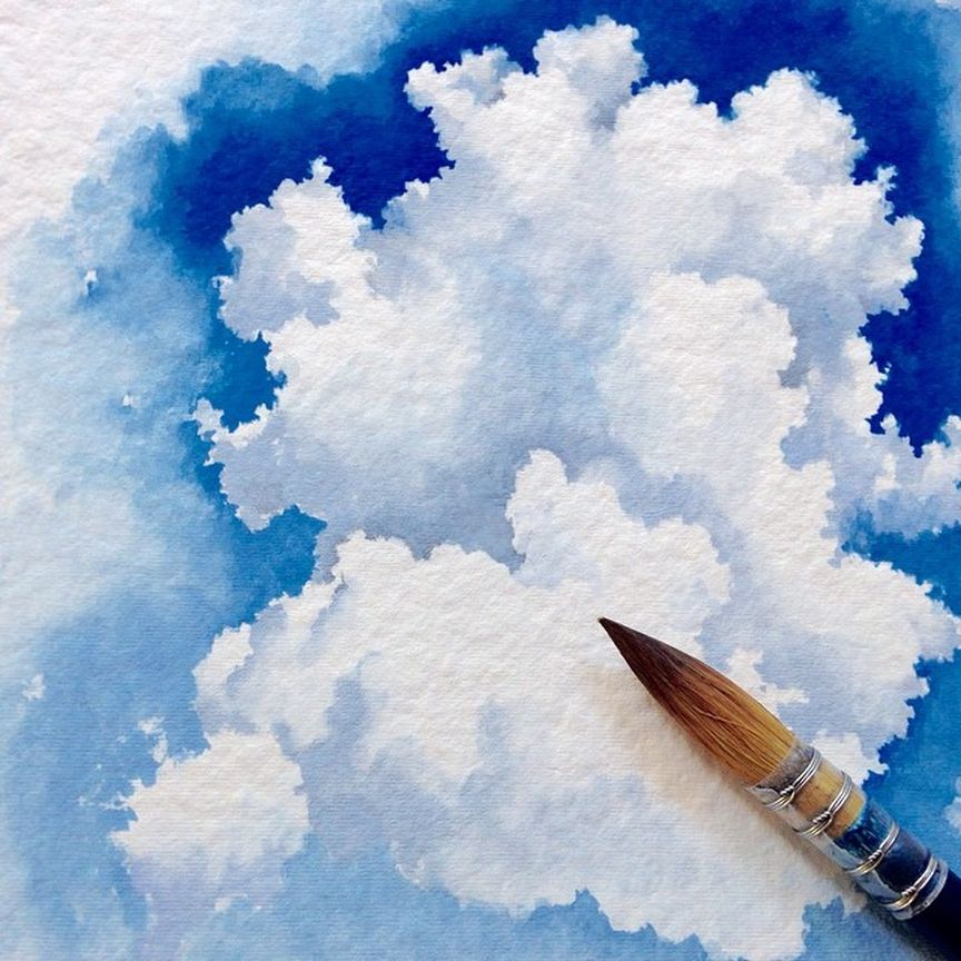Image May Contain Cloud Sky And Outdoor Watercolor