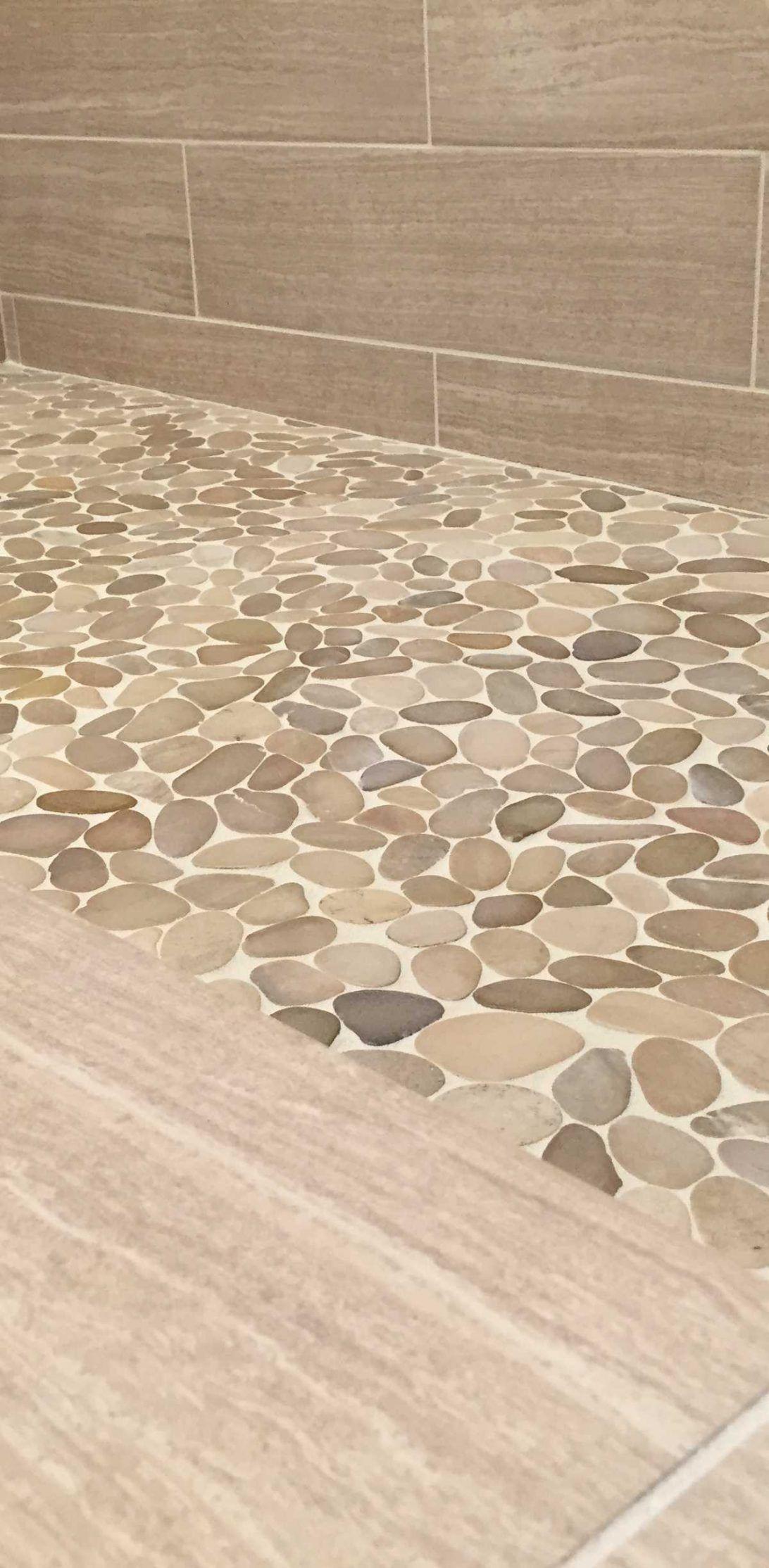 Lowes Pebble Tile Loose Shower Floor Pebble Tile Shower