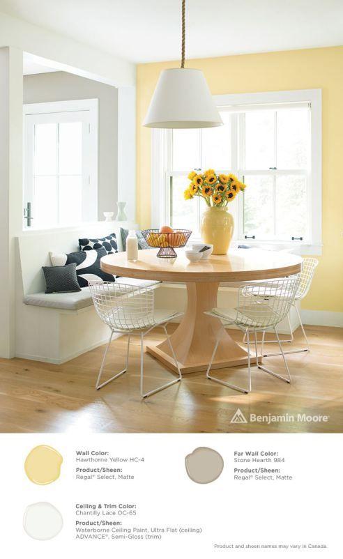 COLOR SPOTLIGHT – Benjamin Moore Hawthorne Yellow - Warm Yellow Paint Colors
