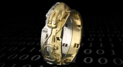 Cyber Space Wedding Ring Weird Funny Wedding Rings Pinterest