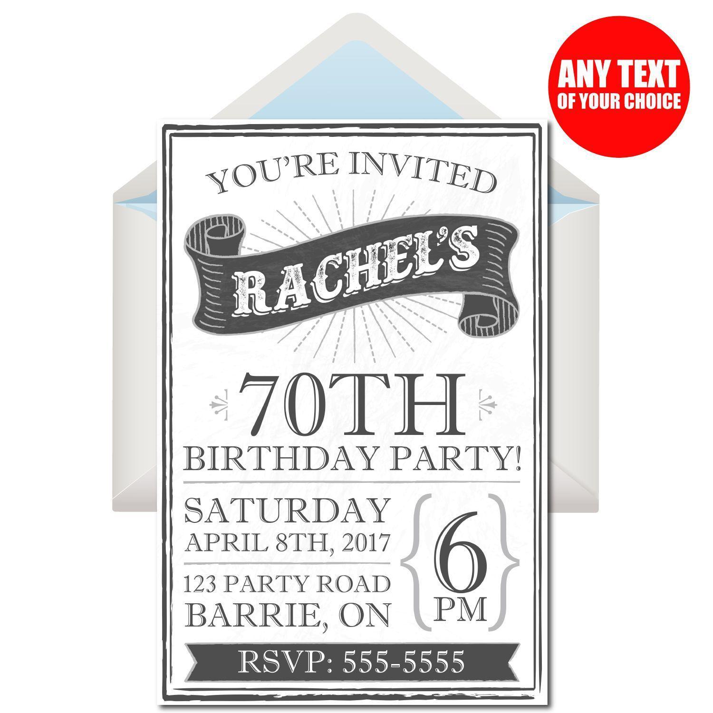 Einladungen Zum 70 Geburtstag Selbst Gestalten Einladungen
