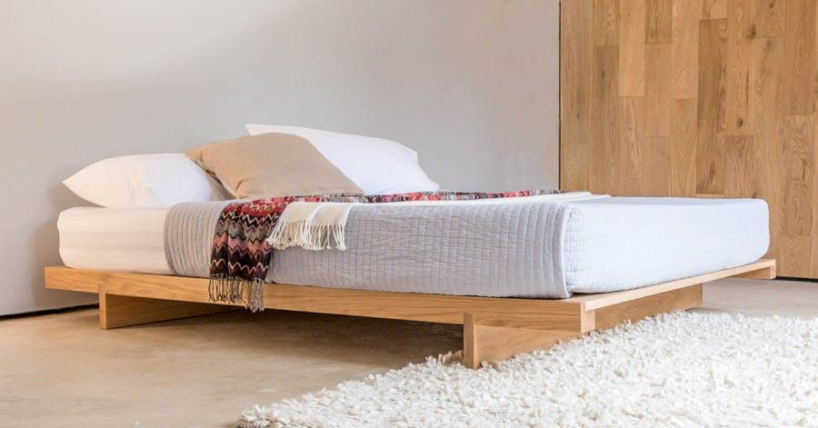 Low Fuji Attic Platform Bed No Headboard Low Bed Frame