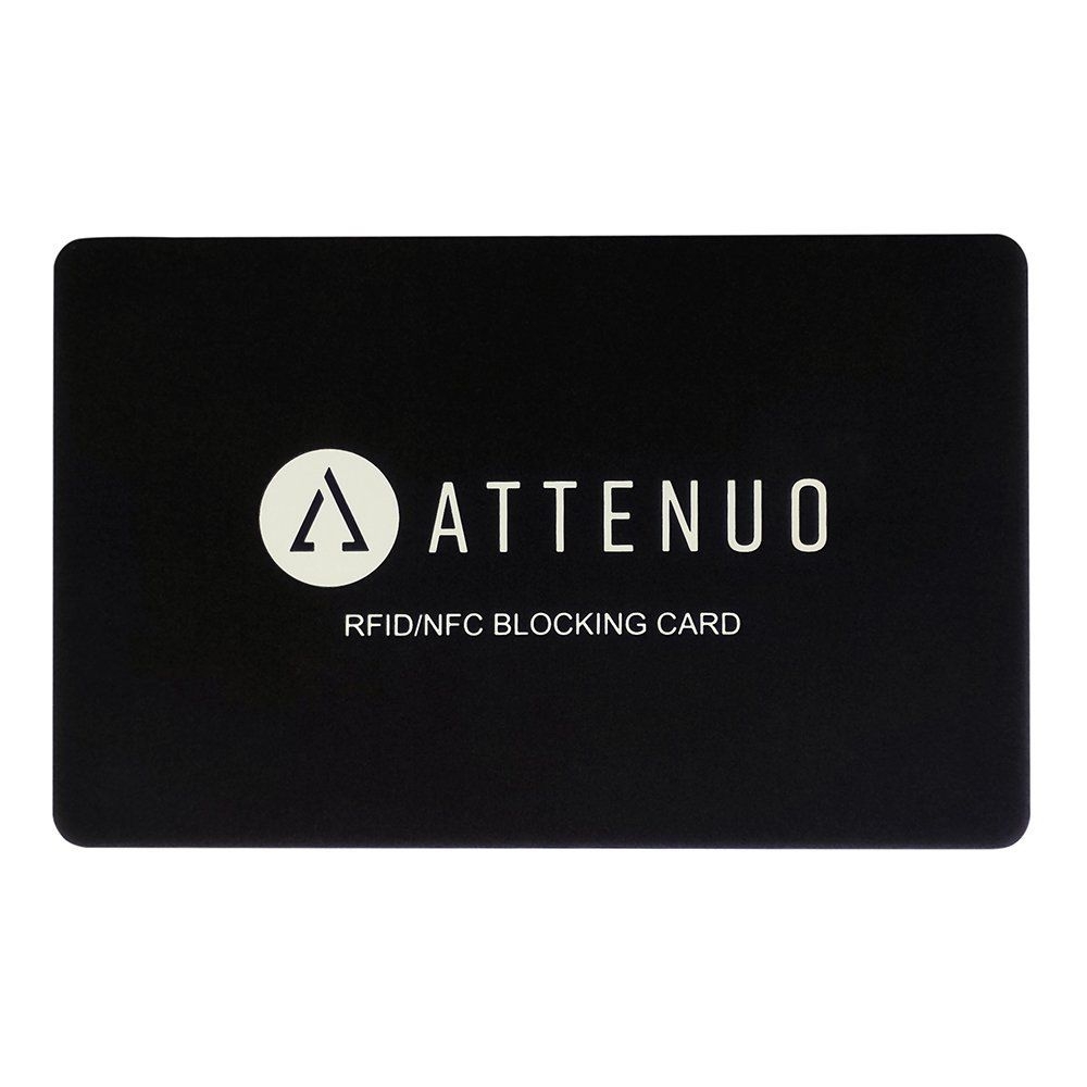 Rfid blocking card by attenuo contactless cards
