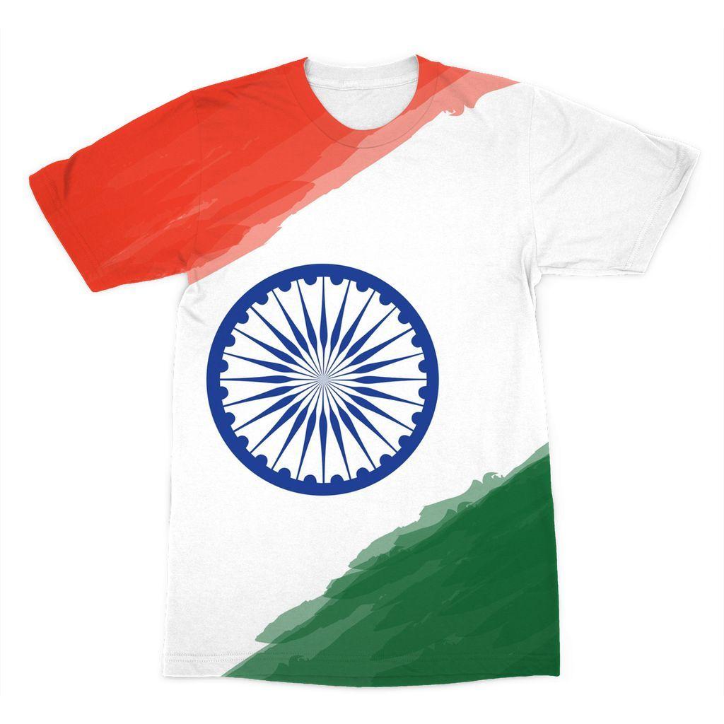 c716c2cc5 Watercolor India Flag Sublimation T-Shirt in 2019 | ik | Picsart ...
