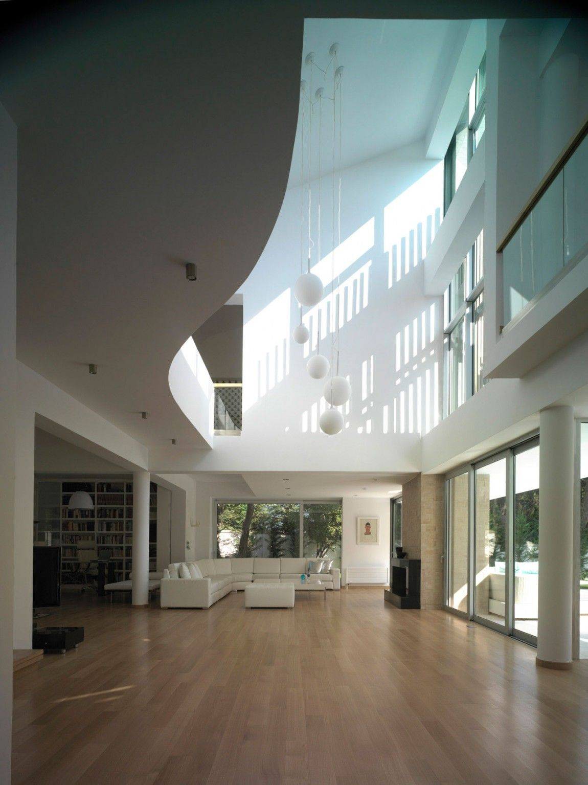 Interior of a residential house In Ekali, Greece by Architect Thanos Athanasopoulos