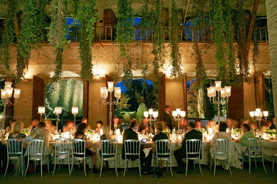 Indoor Outdoor Wedding Reception In Tuscany