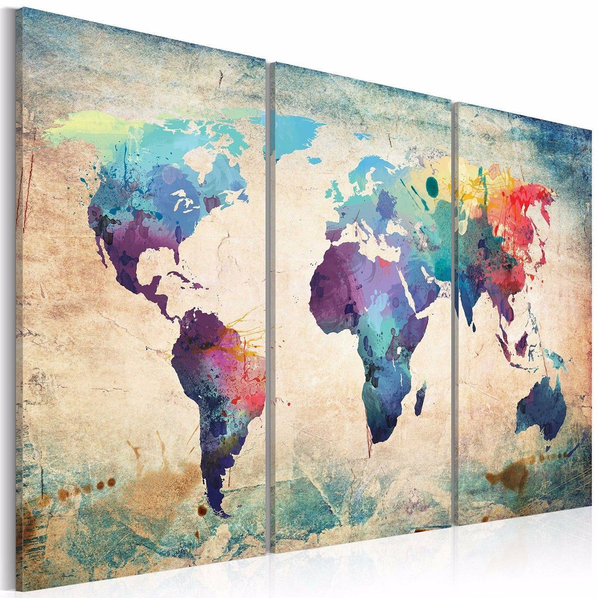 366 aud colorful art retro world map canvas prints painting 366 aud colorful art retro world map canvas prints painting unframe wall decor xmas gift gumiabroncs Choice Image