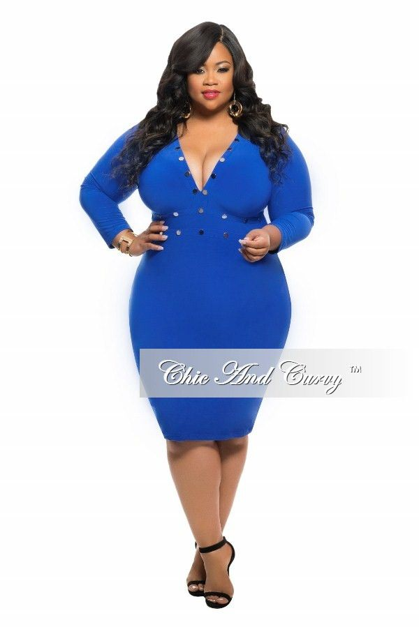 new plus size bodycon dress with rivet stud details and 3/4