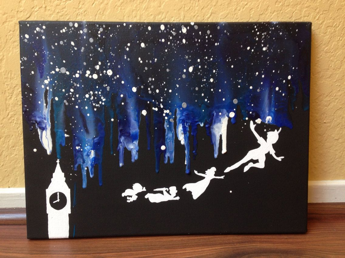 disney 39 s peter pan melted crayon art all things crafty. Black Bedroom Furniture Sets. Home Design Ideas