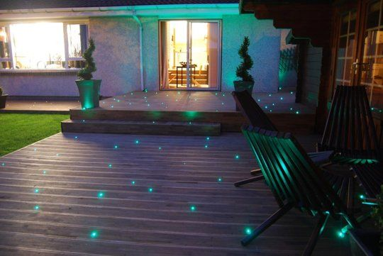 Starry Night Fiber Optic Patio Lighting For The Home