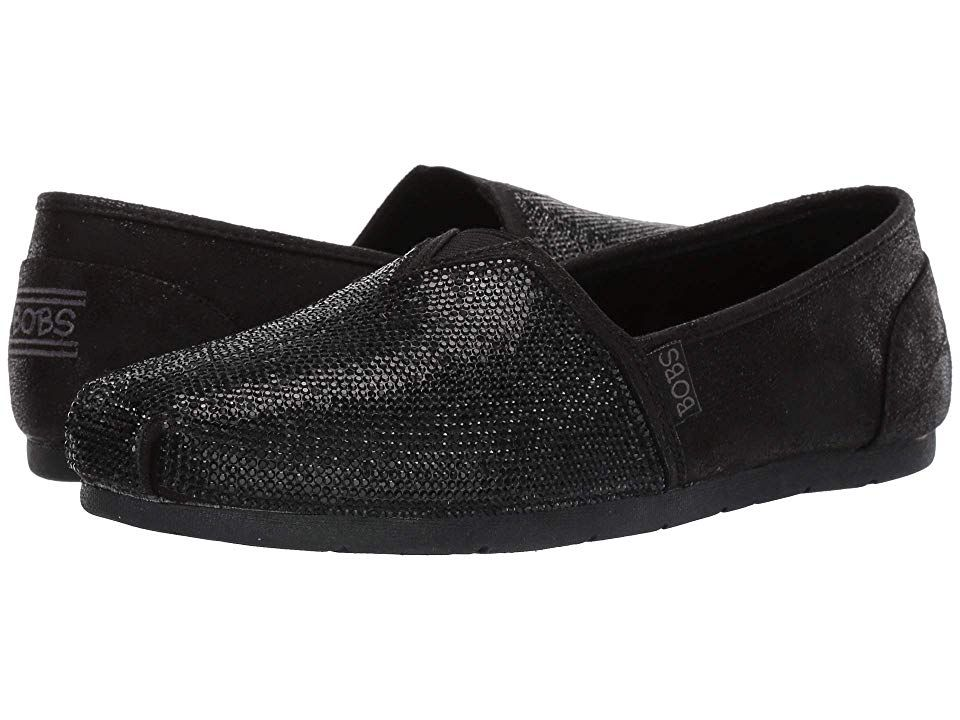 BOBS from SKECHERS Luxe Bobs Tea Rose Women's Shoes Black