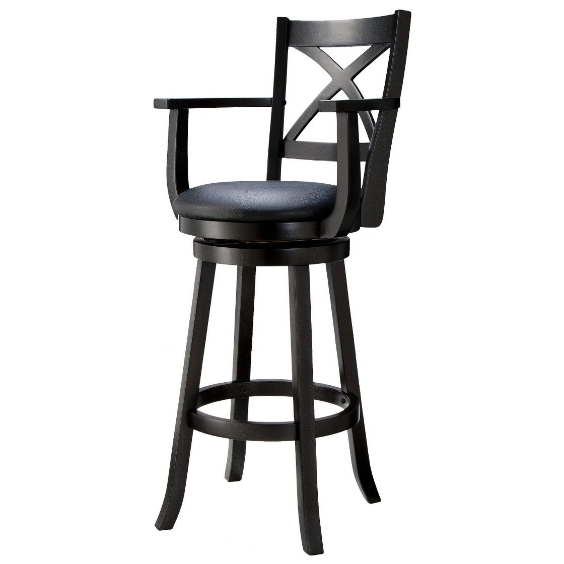 Sensational 29 Emerson X Back Swivel Bar Stool Black Design Black Ibusinesslaw Wood Chair Design Ideas Ibusinesslaworg