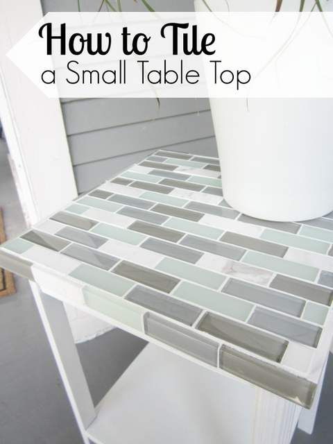 How to Tile a Small Table Top - Pretty Handy Girl Use HD tiles