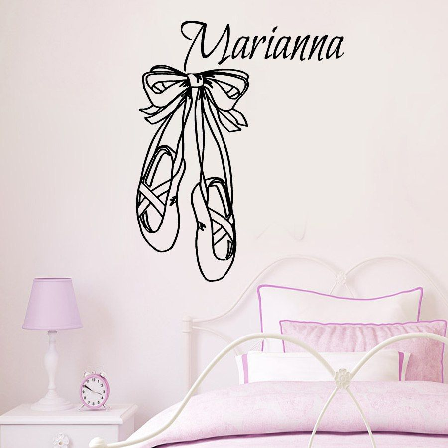 Wall Decals Vinyl Decal Sticker Personalized Name Girl Ballerina - Custom vinyl wall decals dance