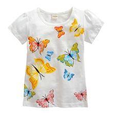 a5c17937e 1 - 10 anos meninas camisa de marca grande menina dos desenhos animados  manga curta t-shirt do bebê crianças camiseta de algodão(China (Mainland))