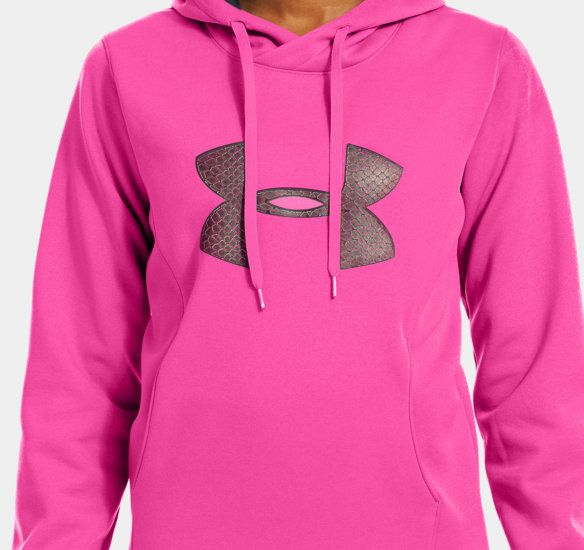 Women's Armour® Fleece Storm Pulse Big Logo Hoodie | 1239243 | Under Armour US