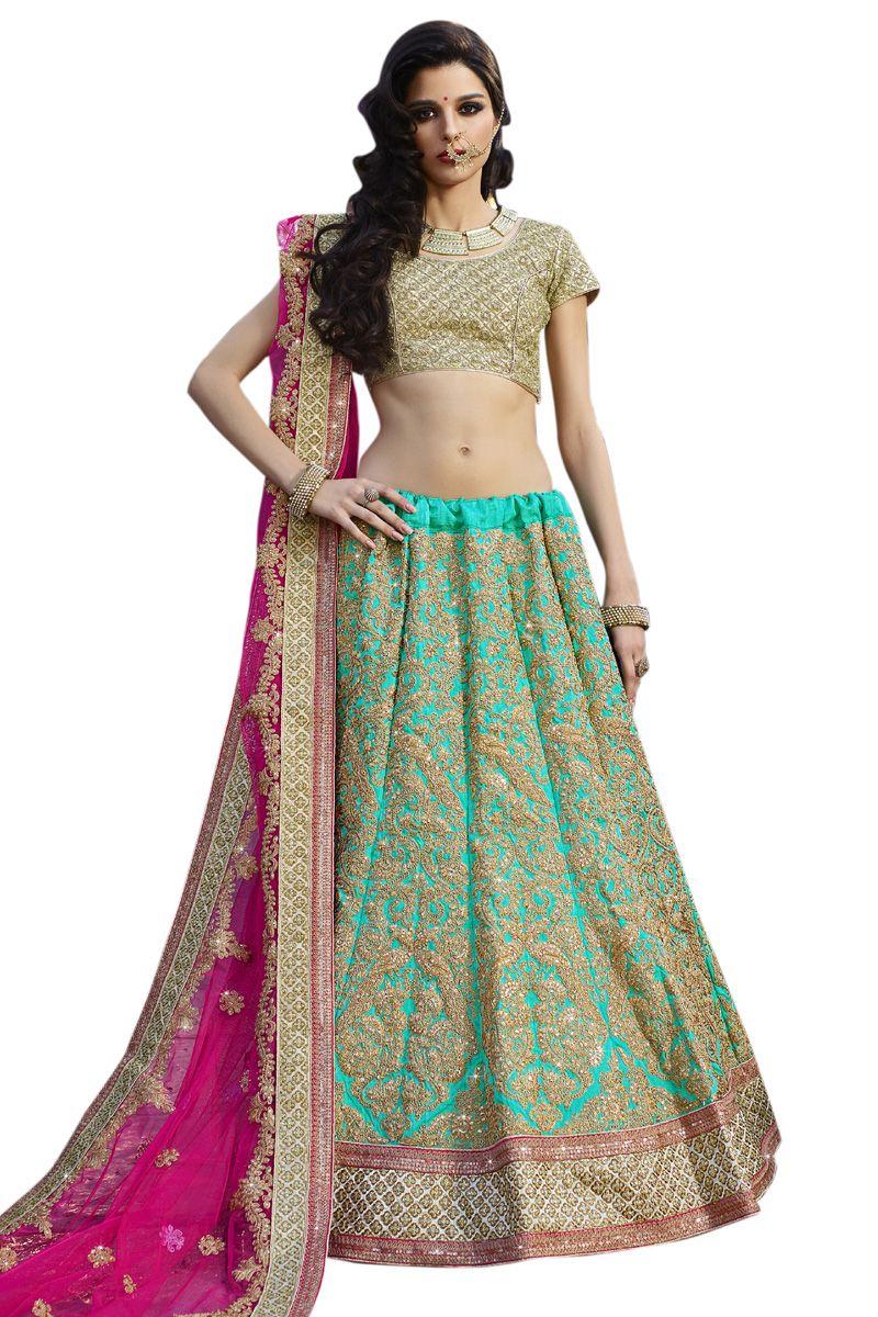Buy now rama raw silk heavy embroidery work bridal lehenga choli