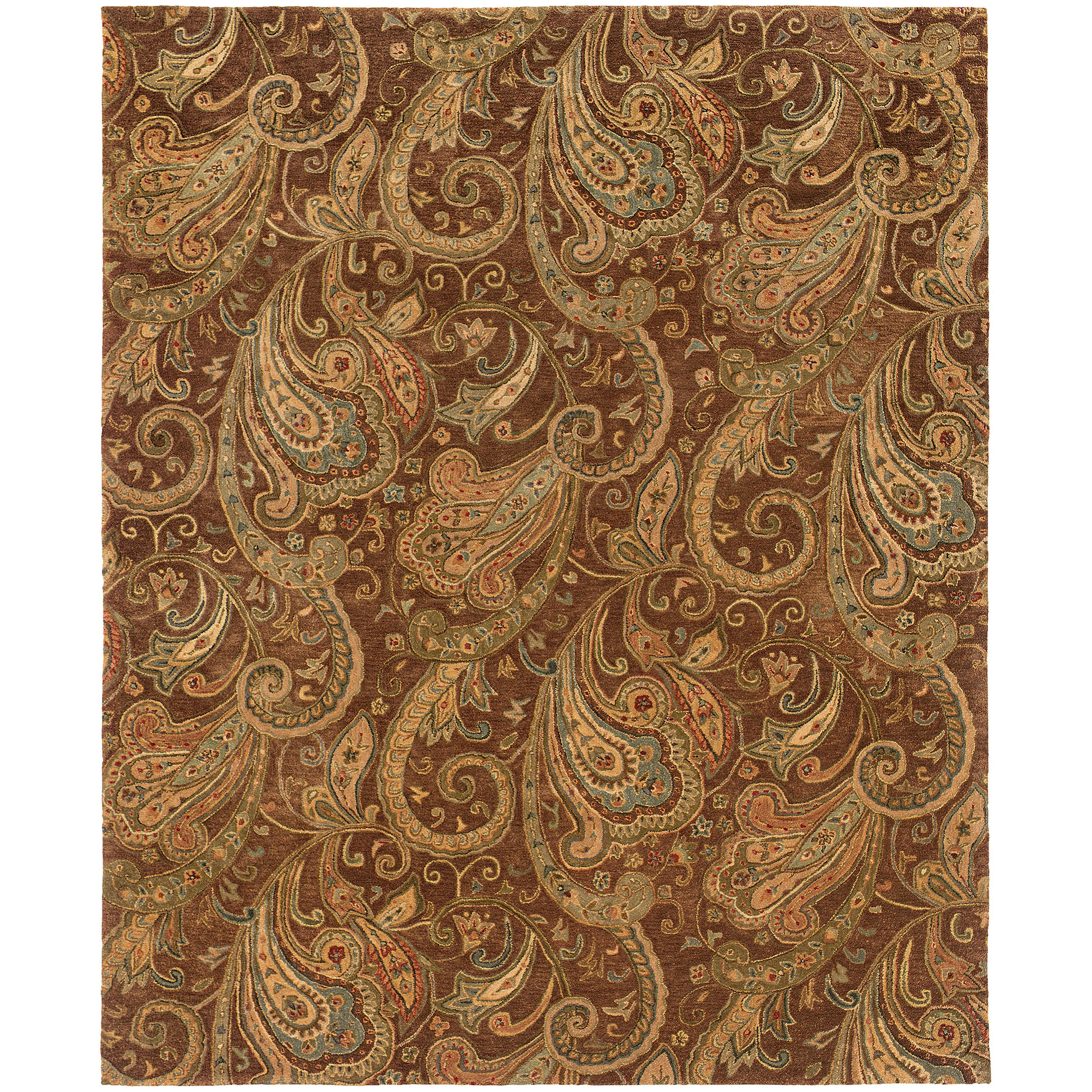 Oriental Weavers Huntley 19102 Brown Gold Paisley Area Rug