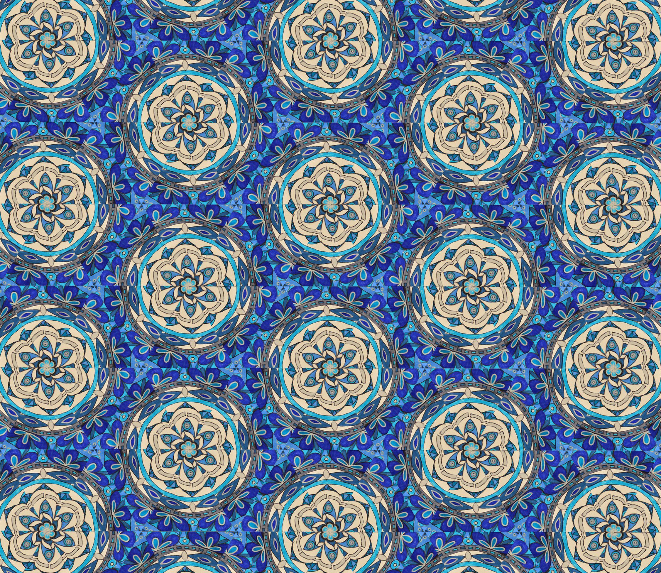 Mosaique Turquoise #mosaique #turquoise #mandala #kaleidoscope ...