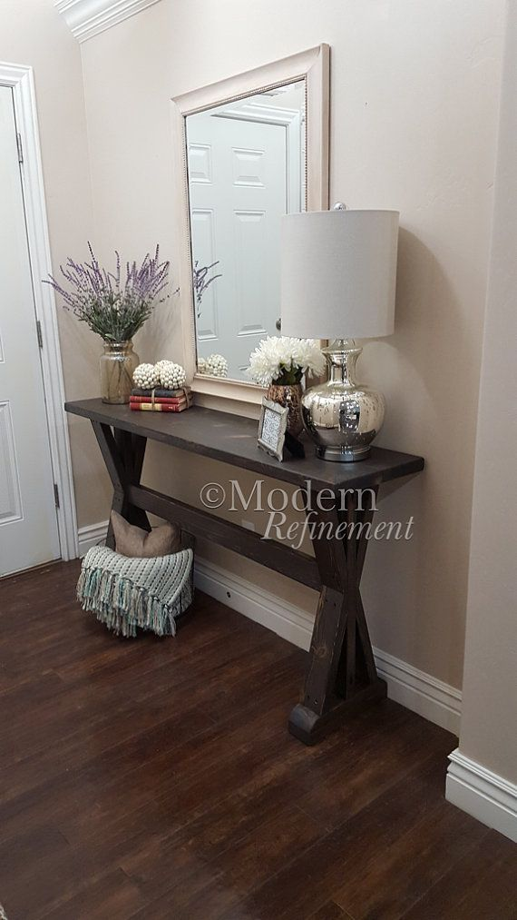 Stunning Handmade Rustic Farmhouse Entryway Table. Just