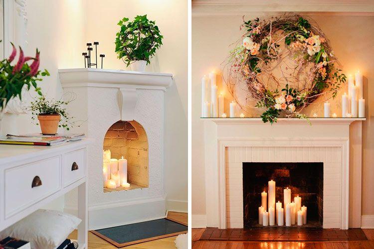 Ideas para decorar chimeneas en desuso decoracion deco - Hacer chimenea decorativa ...