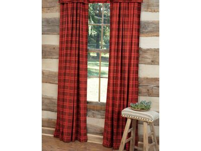 Red Plaid Drapes Or Curtains