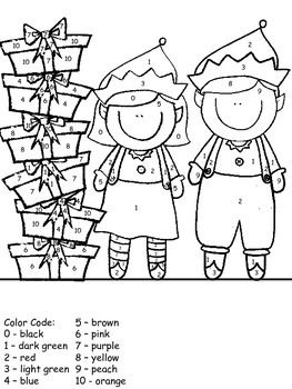 Holiday Color By Number Holiday Colors Christmas Coloring Pages Christmas Colors