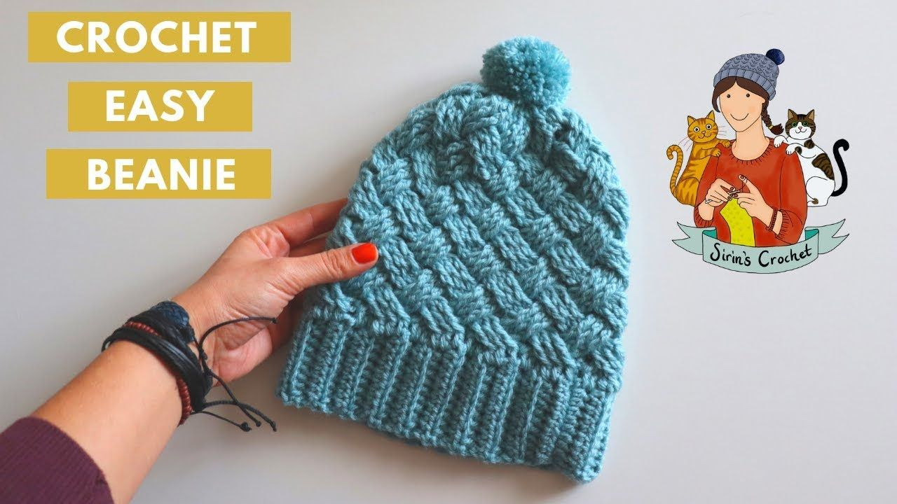 Crochet Easy Cable Hat Beanie Youtube Easy Crochet Crochet Crochet Kids Hats