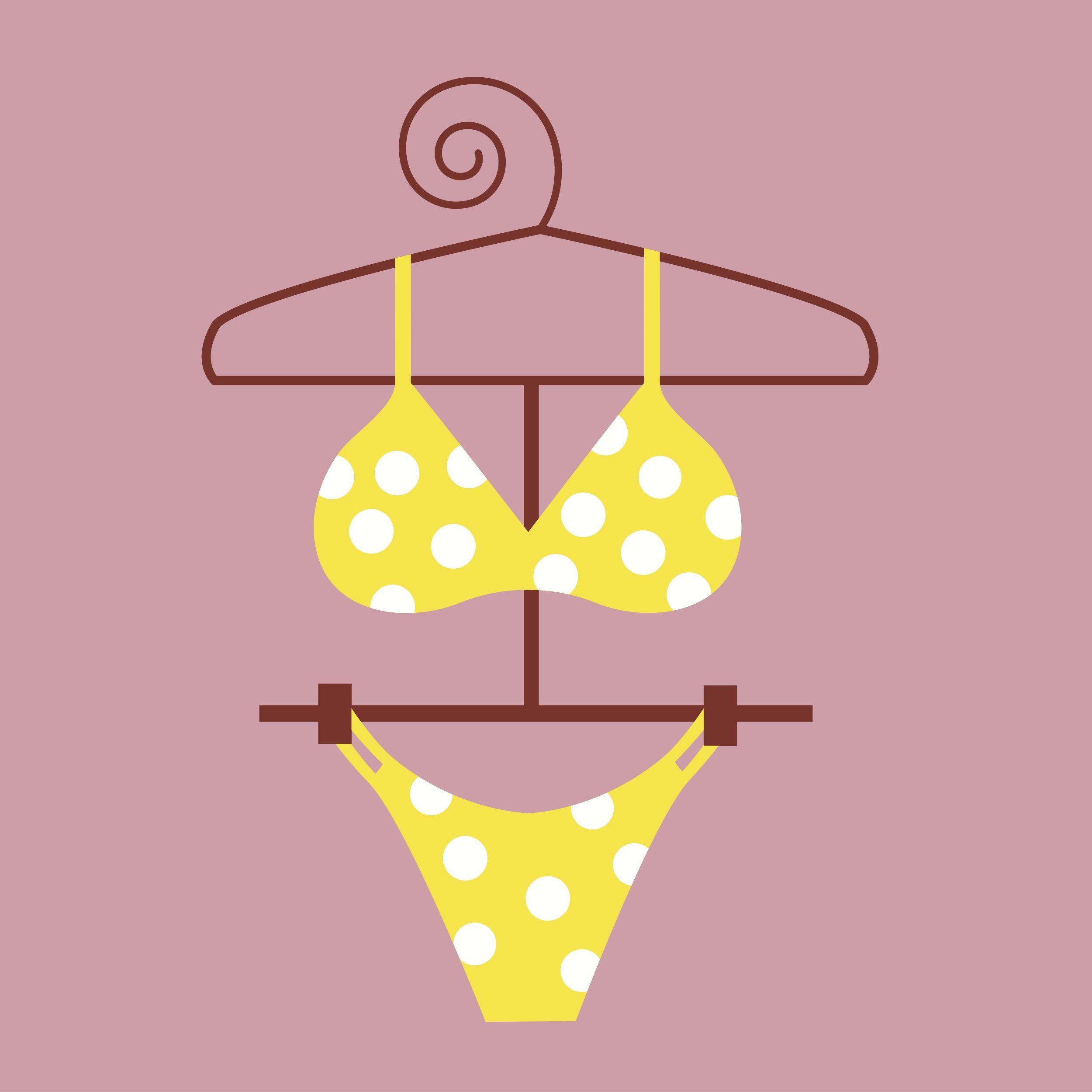 Itsy bitsy yellow poka dot bikini