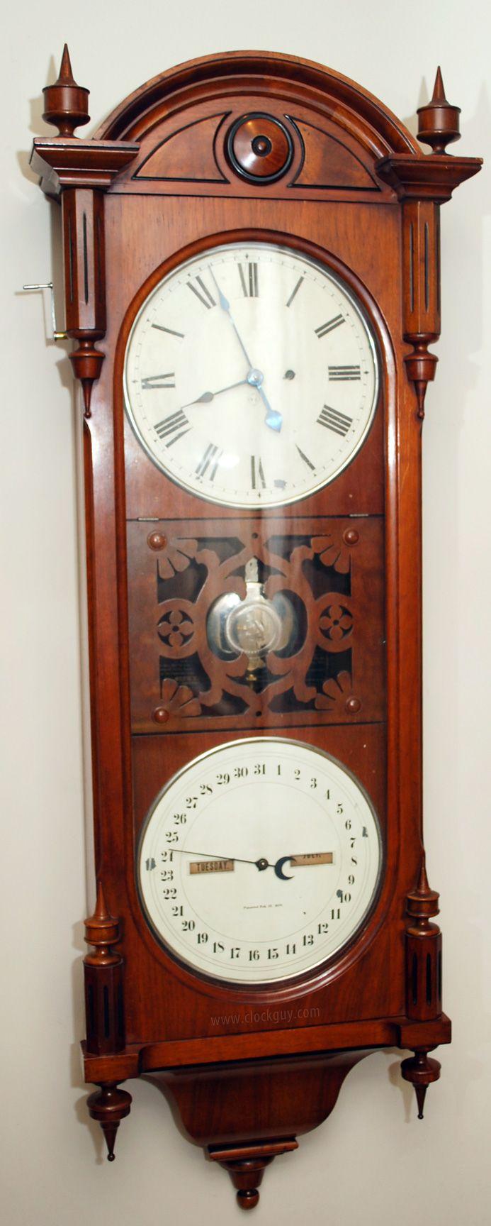 Seth Thomas Office Calendar No 10 Early Model Antique Clocks Guy