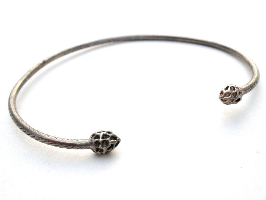Handmade bracelets this is a sterling silver cuff slave
