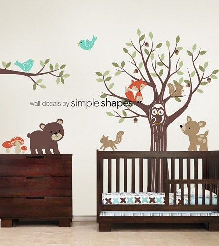 Tree With Forest Friends Decal Set Kid S Nursery Room Wall Sticker