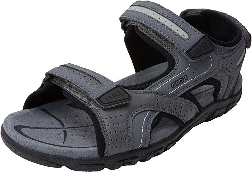 Accidental Resignación conductor  Geox Men's Uomo Sandal Strada D Ankle Strap (Grey/Black) 6.5 UK:  Amazon.co.uk: Shoes & Bags
