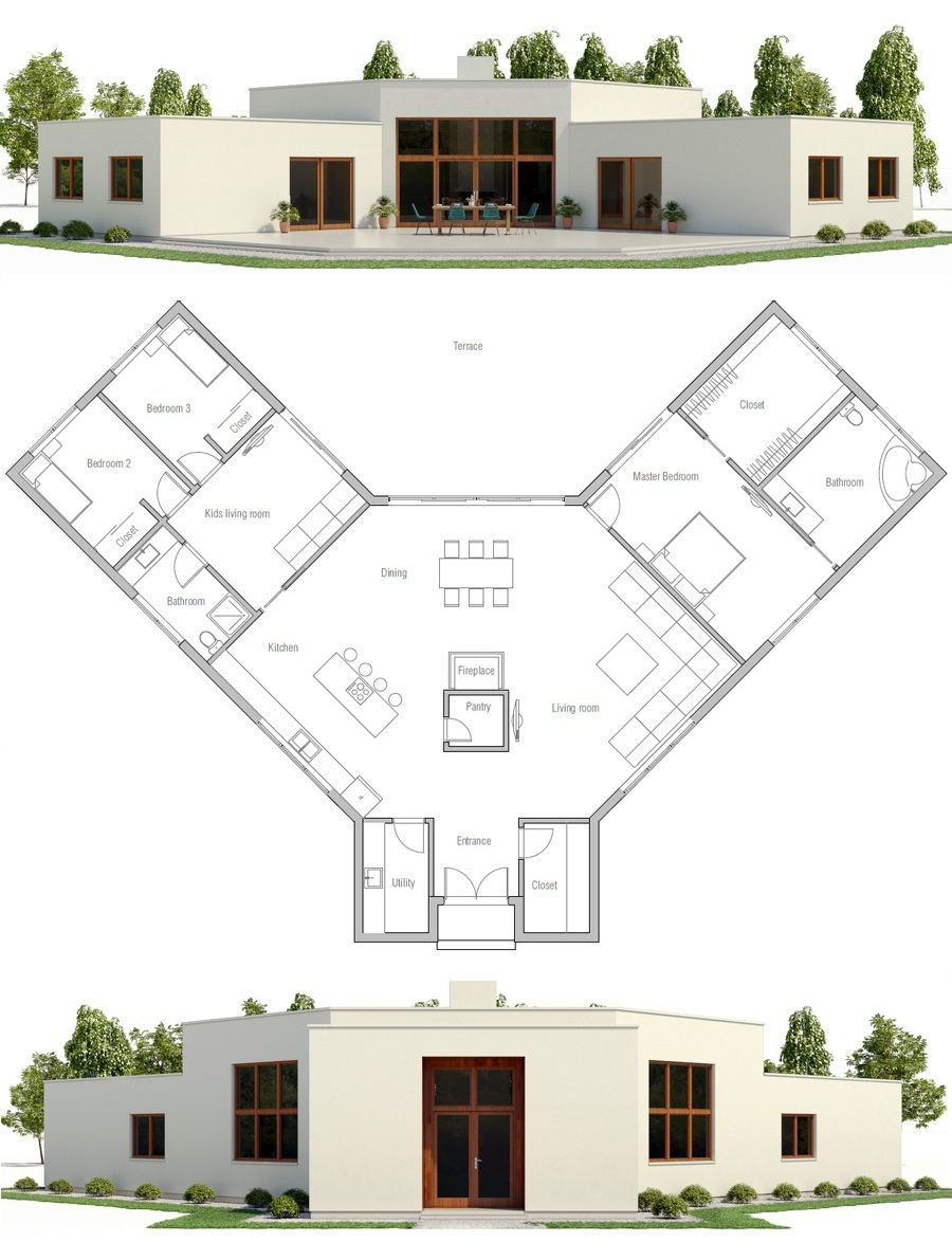 Modern Minimalist House Plan Plans Pinterest House Plans