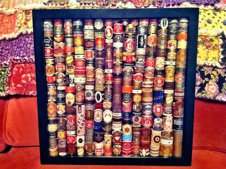 Display Cigar Labels In A Shadow Box Much Better Than