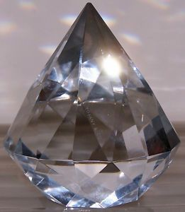05aba89527840 Tiffany Crystal Paperweight Signed Diamond Shape | Collections ...